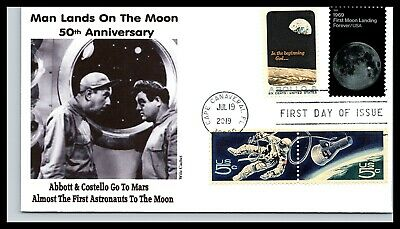 50th Anniversary of the Moon Landing Combo - Abbott & Costello- Wile Cachet