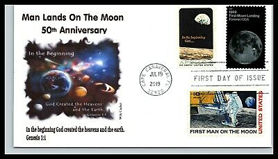 50th Anniversary of the Moon Landing Combo -In The Beginning God - Wile Cachet