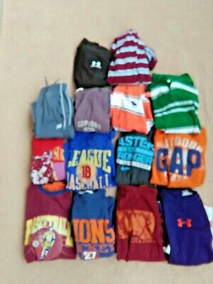 Lot of 15 boys sz10-12,M,L,XLshirts/Shorts/Pants fall winter clothes,Nike,Gap...
