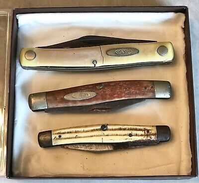 """~ VINTAGE E ~ OLD Case XX Pocket Knife Lot 2 CASEXX & 1 IMPERIAL """"As Is"""""""