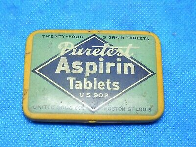 Vintage THE ROXAL STORE Puretest Aspirin Tablets Metal Collectible Tin VERY NICE
