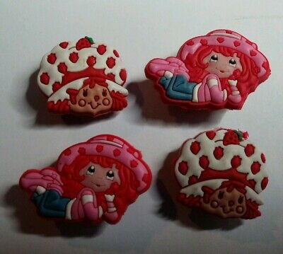 Strawberry Shortcake  Set Of 4 Shoe Charms Lot For Croc Shoes Jibbitz Bracelets