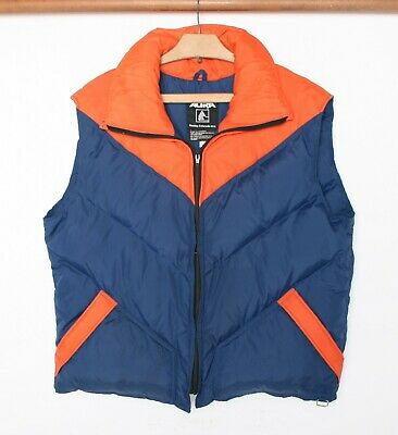 Vintage ALTRA Blue & Orange Down Insulated Puffer Ski Vest Men's Sz. XL