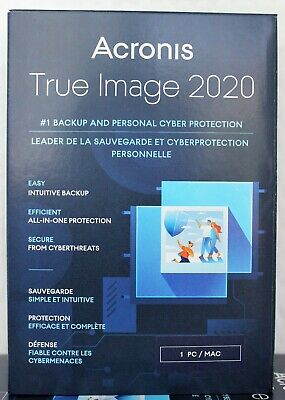 Acronis True Image 2020 - 1 Computer PC & Mac Backup & Recovery for windows 10