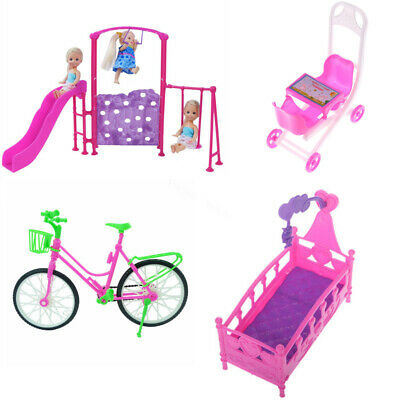 Bed Swing Chair Bike Home Furniture Accessories For Barbie Doll House Decor Gift