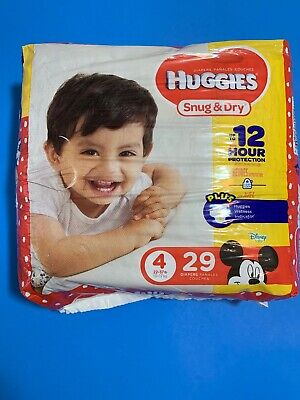Baby Diaper Huggies Snug & Dry TabClosure Size4 Disposable Hvy Absorb Pack29