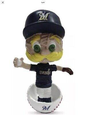 2018 Stitch N Pitch mini Bernie Bobblehead Milwaukee Brewers SGA!!!!