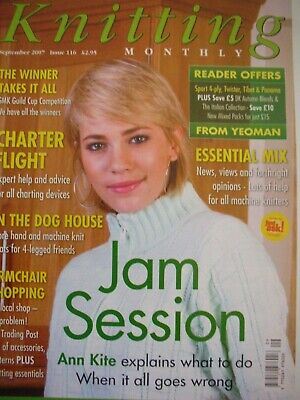 MACHINE KNITTING MONTHLY Magazine Sept 2007 Issue 116 Patterns Tips Techniques