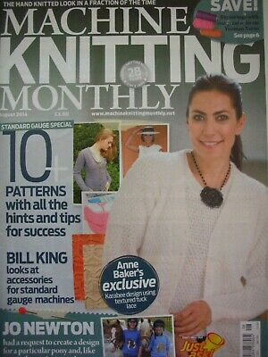 MACHINE KNITTING MONTHLY Magazine Aug 2014 Issue:199 Patterns Tips Techniques
