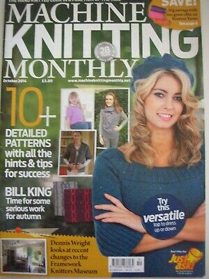 MACHINE KNITTING MONTHLY Magazine Oct 2014 Issue:201 Patterns Tips Techniques