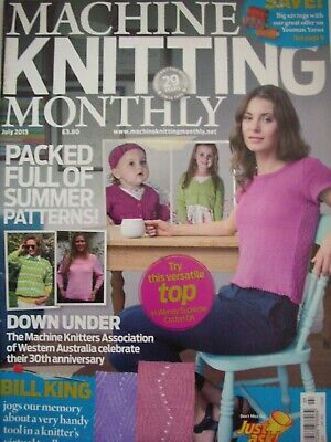 MACHINE KNITTING MONTHLY Magazine July 2015 Issue:210 Patterns Tips Techniques
