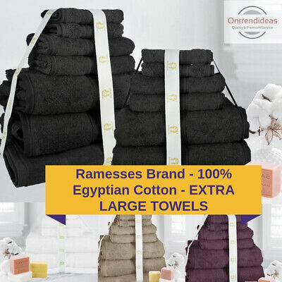 Ramesses 100% Premium Egyptian Cotton Extra Large Bath Sheet Towel Set