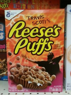 Travis Scott X Reeses Puffs Cereal 100% New Limited