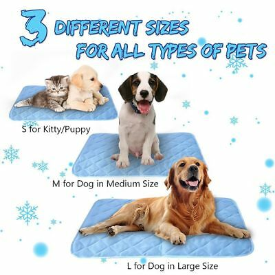 Chilly Cooling Pet Dog Cat Bed Summer Cool Cushion Gel Pad Viscose Fiber Mat---