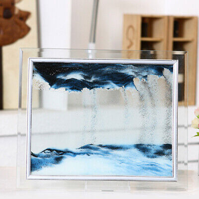 Dynamic 3D Natural Landscape Flowing Sand Picture, Moving Grit Photo Hourglass