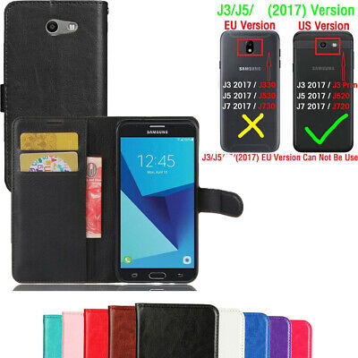 For Samsung Galaxy J3/J5 2017 Leather Flip Wallet Magnetic Card Stand Case Cover