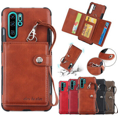 For Samsung Galaxy Note 10 Plus A70 S10 Leather Multi-Card Bag Wallet Case Cover