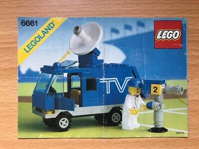 Lego Vintage Classic Town 6661 TV Van  Instruction Manual Only