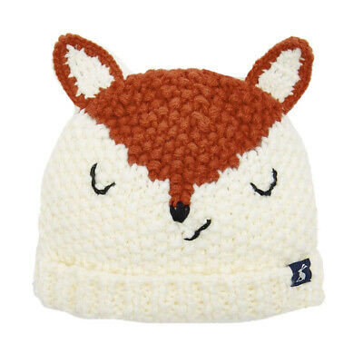 Joules Baby Boys Chummy Knitted Character Hat, Fox