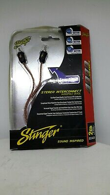 Stinger SI423 Audio 3ft 0.9m 4000 Series 2 Channel Car RCA Amp Cable Lead