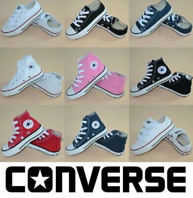 Converse Sneakers Kids Child Shoes Low Hi Top Shoes All Star Boys Girls UK Size
