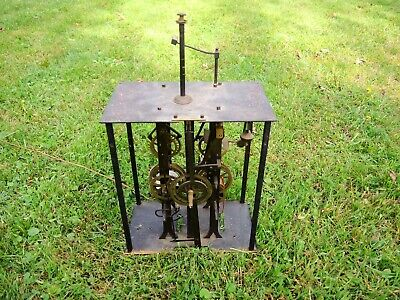Antique French Morbier Grandfather TALL Case clock Brass Metal MOVEMENT Parts