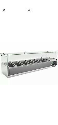 Refrigerated Pizza Saladette Topper Servery Prep Fridge Display Topping Unit