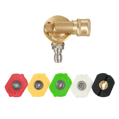 Pivoting Coupler Socket Pressure Washer Hose Adapter 1/4 Brass Quick Connect