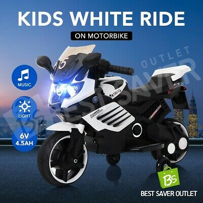 Kids Children Ride-On Motorbike Motorcycle Electric Toy Bike Car Battery Black