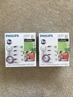 2 X Philips myGarden Outdoor Wall Light Stainless Steel Calgary