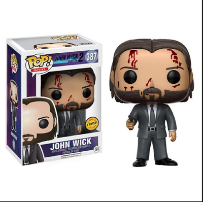 2019 New Funko Pop! John Wick Chapter 2 John Wick #387 Bloody Chase Vinyl Figure