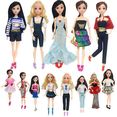 13Pcs Handmade Fashion Dresses Clothes Party Outfit For Barbie Doll Toy Kid Gift