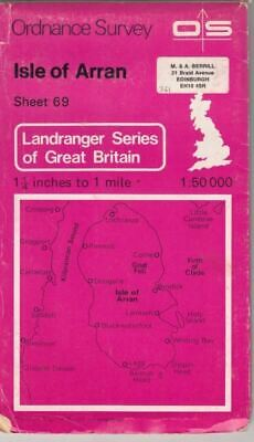 Landranger Maps: Isle of Arran Sheet 69 : Ordnance Survey
