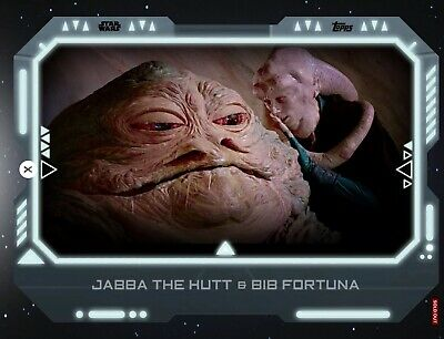 Topps Star Wars Card Trader - Alliances of Evil - JABBA THE HUTT & BIB FORTUNA