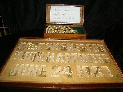 Original Antique Georgian Wooden Dissection Jigsaw Puzzle: Best Wishes F...1828