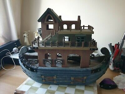 """Extremely Rare Beautiful And Usual Wooden Ark Very Large 22"""" X 9"""" X 21"""" Tall"""