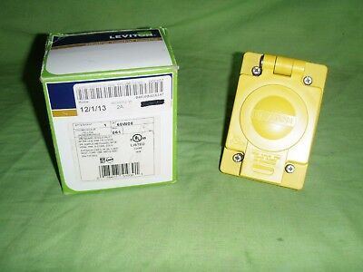 Leviton 68W08 30 Amp, 125/250 Volt, Non-NEMA, 3P, 3W, IP66 Rated Cover, New