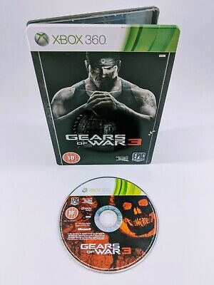 Microsoft Xbox 360 Gears of War 3 Collector's Steelbook PAL Free Post 3546430119