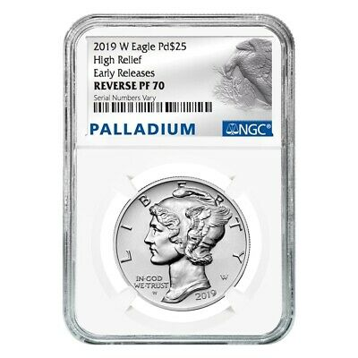 2019-W 1 oz Reverse Proof Palladium American Eagle NGC PF 70 ER (Eagle Label)