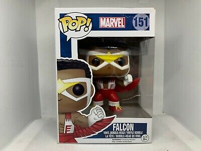 Funko Pop! Marvel Classic Falcon  #151 Rare Vaulted Vinyl Figure w Pop Protector