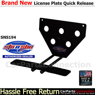 STO N SHO SNS77 For 14-17 Maserati Ghibli Quick Release License Plate Bracket