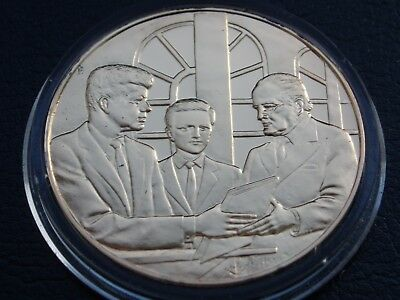 Winston Churchill Centenary Coin Honorary Us Citizen From Kennedy Gold On Silver