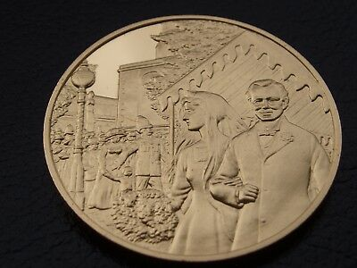 Winston Churchill Centenary Medal Marriage To Clementine Hozier Gold On Silver 1