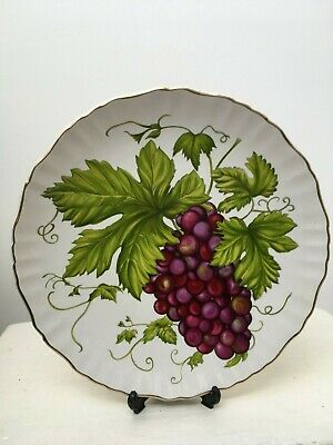 "Vintage 1950'S James Kent Old Foley "" Grapes"" Cake Plate Wonderful Condition"