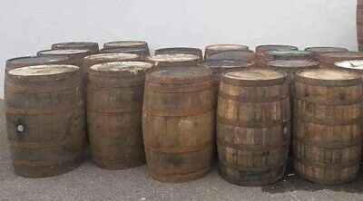 Rustic solid oak wooden barrel large whiskey barrel keg tubs