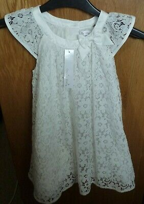 BNWOT Stunning Girl's Ivory Lace Dress Size 3 - 4 Years, RRP £21.99
