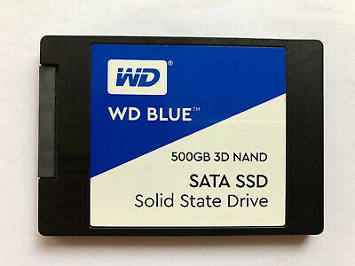 """Western Digital WD Blue 500GB SSD 3D NAND 2,5"""" 7mm Notebook Laptop Solid State D"""