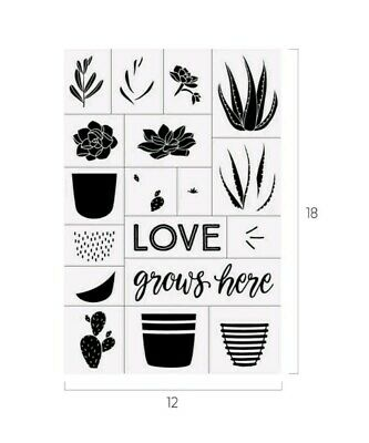 Chalk Couture Love Grows transfer, NIP, Retired, 12x18