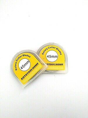 10pcs 45mm Rotary Cutter Replacement Blades with Storage Case Circular Cutting B