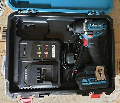 Erbauer 18V 4.0Ah Li-Ion Ext Brushless Cordless Impact Driver